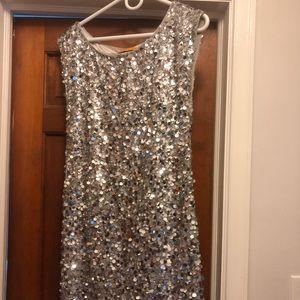 Alice & Olivia Sequin T-Shirt Dress